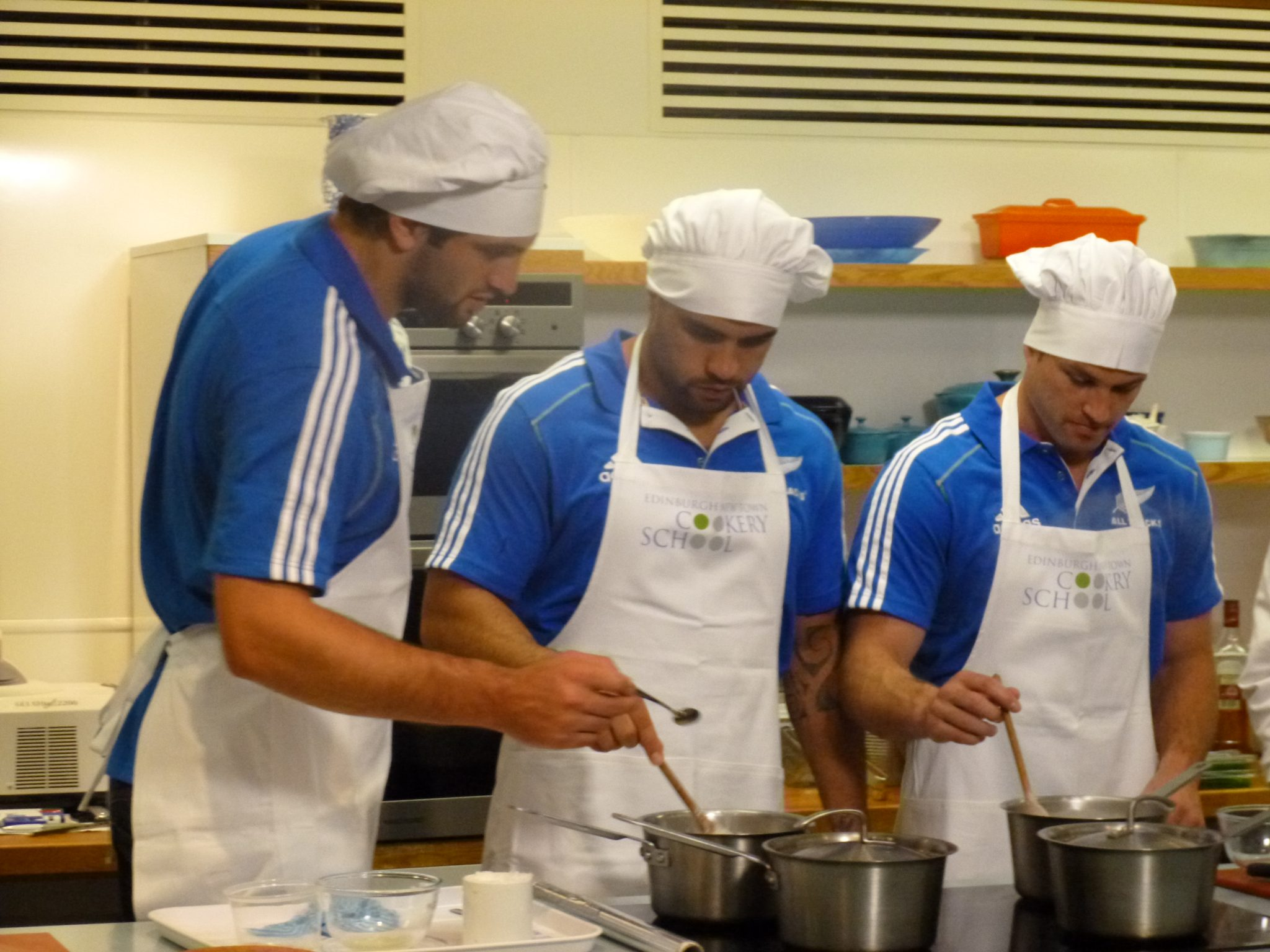 All Blacks visit Edinburgh New Town Cookery School