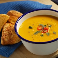 Roasted Pumpkin and Chilli Soup