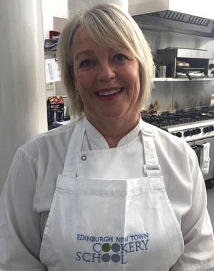 Joanne Ballingal teaches cookery course Scotland at cook school Edinburgh