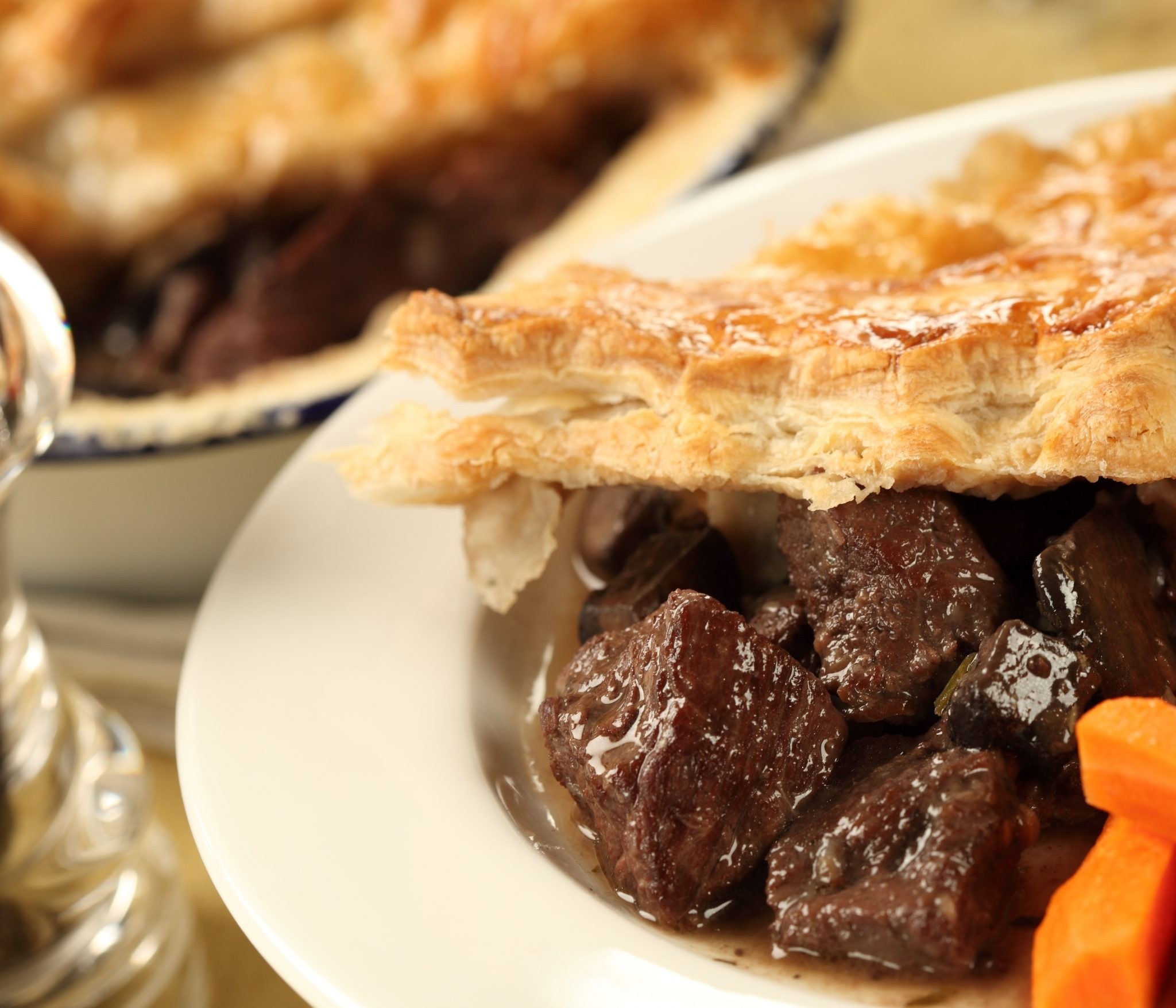 Venison and Chestnut Pie